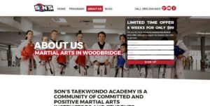 Martial Arts Website About Us Page